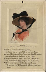 Ida - Woman in Hat with Black Bow