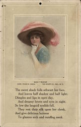 Eloise - Pensive Woman in Hat with Pink Plume