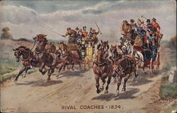 Rival Coaches - 1834