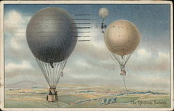 The Spherical Balloon - Two White, One Blue in the Air