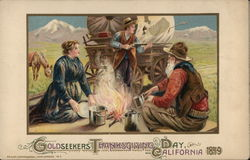 Goldseekers Thanksgiving Day - California 1849