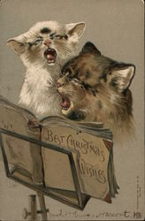 Two Cats Singing from Best Christmas Wishes