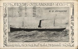 Clyde Steamship Co. - S.S. Comanche