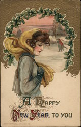 A Happy New Year to you Postcard