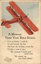 A Message From Your Bible School