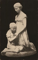 Woman and Child Sculpture