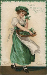 And its, O, the green Shamrock Postcard