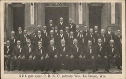 Group of Men in Dark Suits Posed for Group Photo