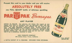 ParTPak Beverages - Green Labeled Bottle
