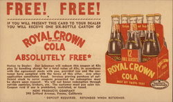 Six-Pack Royal Crown Cola in 16-Ounce Glass Bottles