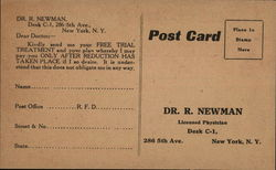 Get Rid of Your Fat - Advertisment for Dr. R. Neman, New York, N.Y.