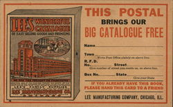 "Drawing of ""Lee's Wonderful Catalogue,"" Large Building on Cover"