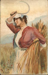 Woman Working in the Field, Sickle