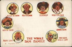 The Whole Dam Family Postcard