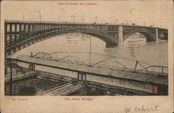 The Eads Bridge - Wide View Across Water