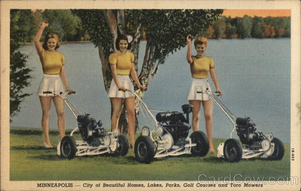 3 Women with Toro Lawn Mowers Minneapolis Minnesota