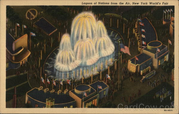 Lagoon of Nations from the Air, New York World's Fair