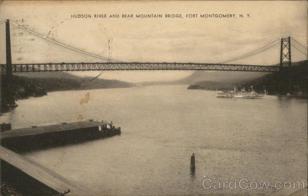Hudson River and Bear Mountain Bridge Fort Montgomery New York