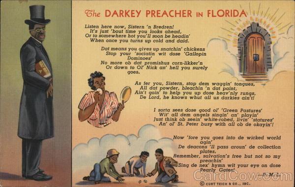 The Darkey Preacher in Florida
