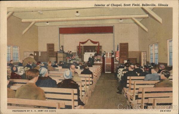 Interior of Chapel, Scott Field Belleville Illinois