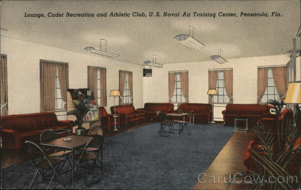 U.S. Naval Air Training Center - Lounge, Cadet Recreation and Athletic Club Pensacola Florida