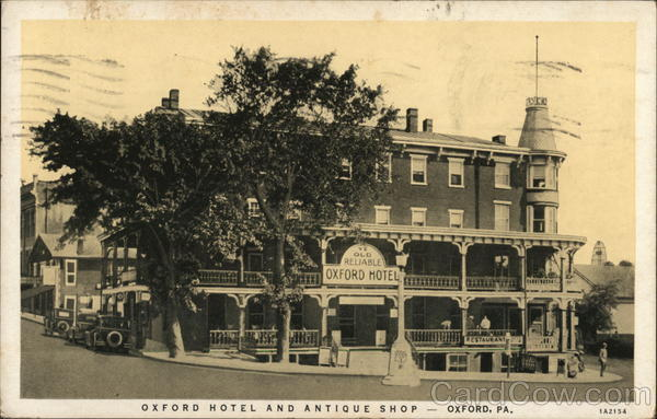 Oxford hotel and Antique Shop Pennsylvania