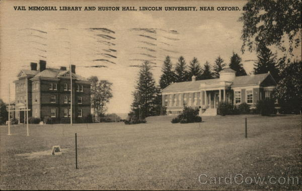 Vail Memorial Library and Huston Hall, Lincoln University Oxford Pennsylvania