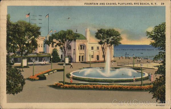 Fountain and Casino at Playland, Rye Beach New York