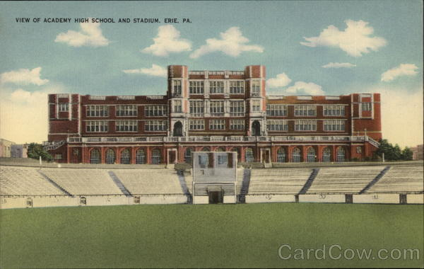View of Academy High School and Stadium Erie Pennsylvania