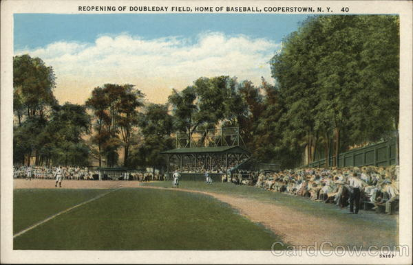 Reopening of Doubleday Field, Home of Baseball Cooperstown New York