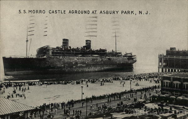 S. S. Morro Castly Aground at Asbury Park, NJ New Jersey