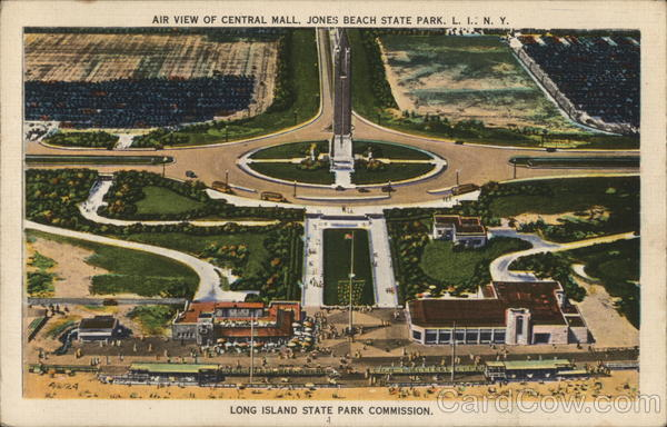 Air View of Central Mall, Jones Beach State Park Long Island New York