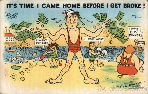 It's Time I came Home Before I Get Broke! Comic, Funny