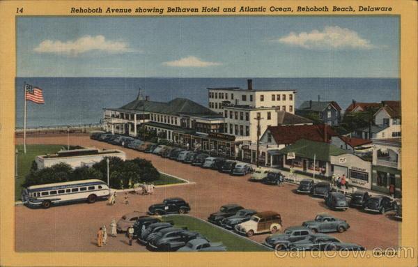 Rehoboth Avenue Showing Belhaven Hotel And Atlantic Ocean Rehoboth