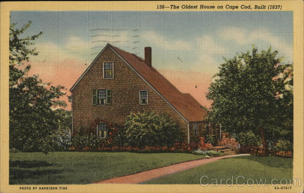 The Oldest House in Cape Cod, Built 1637 Sandwich Massachusetts