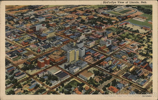 Bird's Eye View of City Lincoln Nebraska