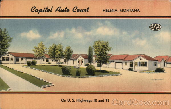capital auto court helena mt postcard