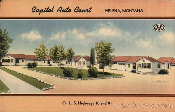 capital auto court helena mt postcard