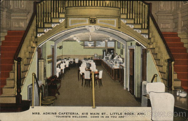 Mrs. Adkins Cafeteria Little Rock Arkansas