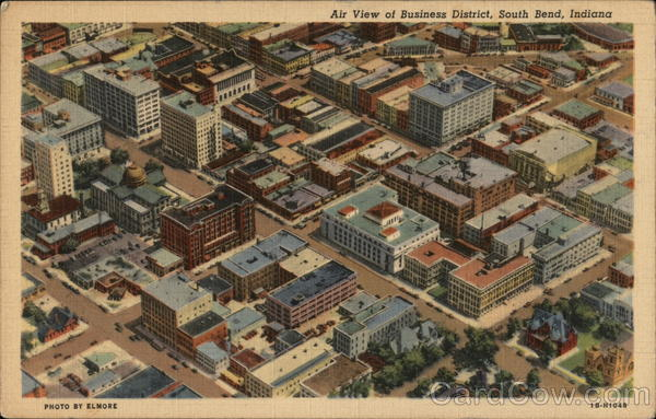 Air View of Business District South Bend Indiana