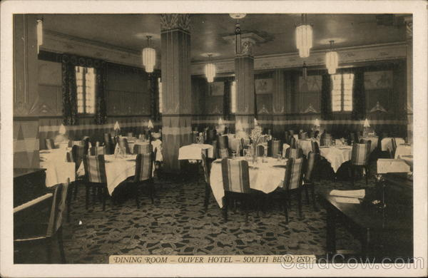 Dining Room, Oliver Hotel South Bend Indiana