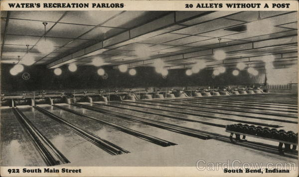 Water's Recreation Parlors South Bend Indiana Bowling