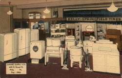 Showroom at Jawer's Supply Co. Postcard