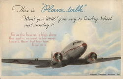 """Plane Talk"" Sunday School"