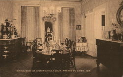 Dining Room of Historic Villa Louis