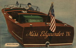 Miss Edgewater IV, Queen of the Lake Postcard