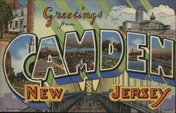 Greetings from Camden, New Jersey Postcard