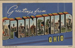 Greetings from Springfield Ohio Postcard