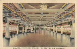 "Ballroom - Excursion Steamer ""Capitol"" on the Mississippi"