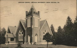 Lincoln Chapel, Lincoln University Postcard